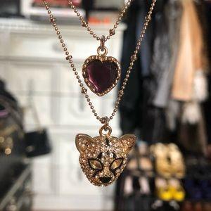 Vintage Betsey Johnson tiger charm necklace